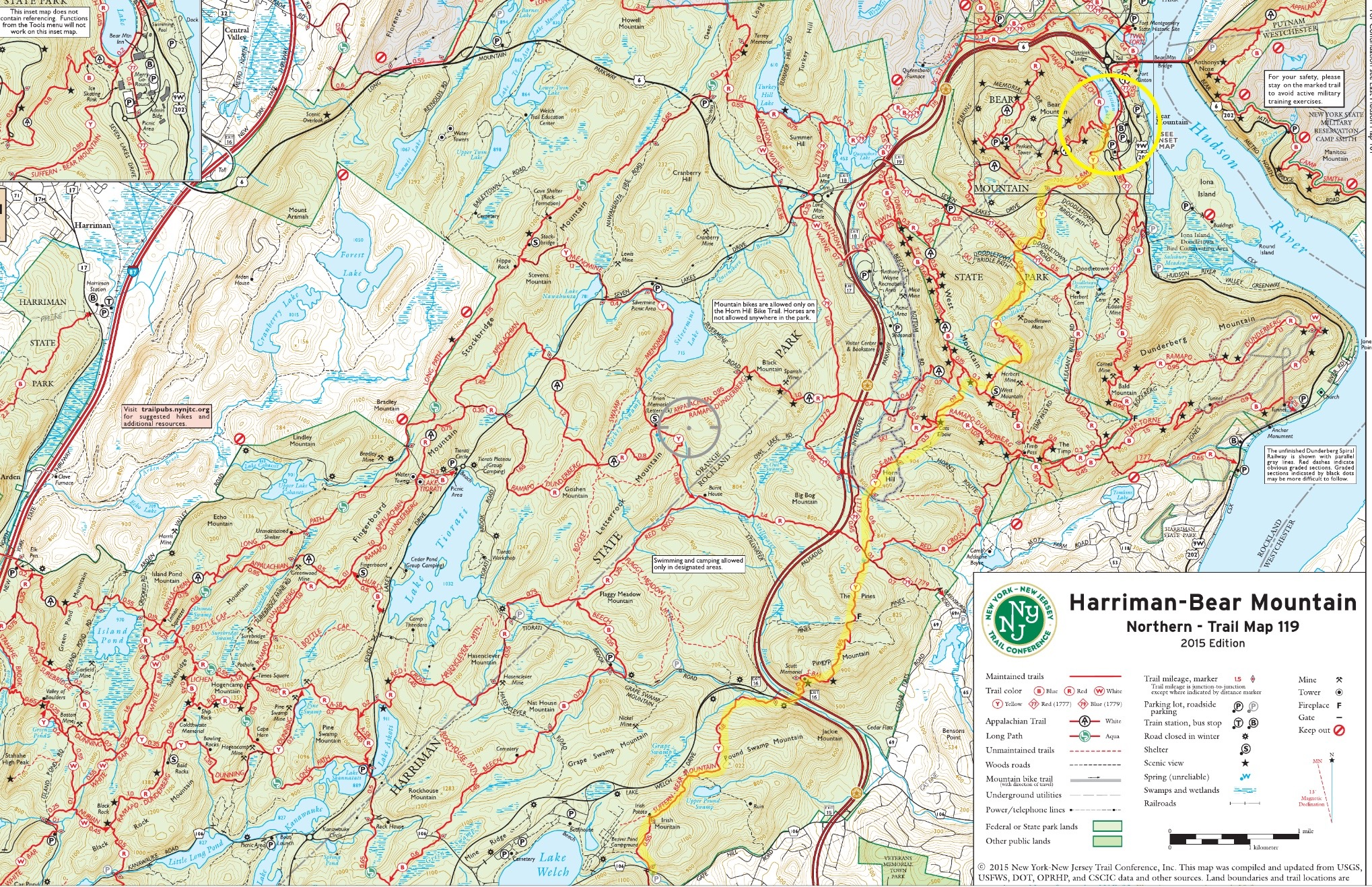 Map 119 Northern HSP & Bear Mountain
