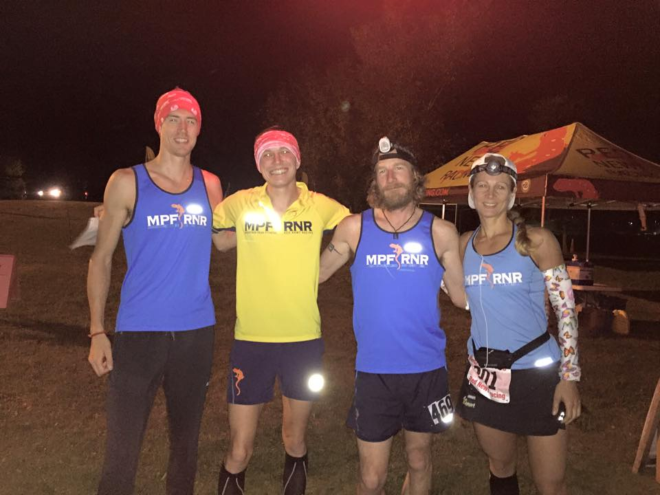 With MPF/RNR teammates (from left to right) Cole Crosby, Scotie Jacobs, and Jennifer Brunet