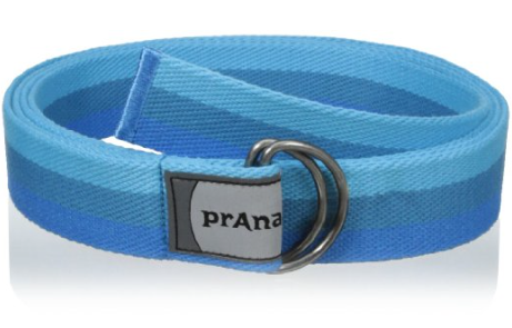 Prana Yoga Strap - Great for assisted stretching. The Prana Raja Yoga Strap helps you to improve your form and hold stretches longer by making hand-to-foot and hand-to-hand connections using a yoga strap. Great for beginners and physical therapy patients focused on improving flexibility.