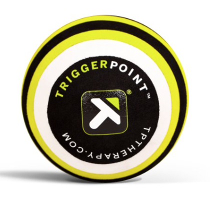 Trigger Point MB5 Massage Ball - This 5-Inch ball is dense enough to hold up well to a lot of pressure and use, and works great to reach areas of your hips, hamstrings, rhomboids and chest.