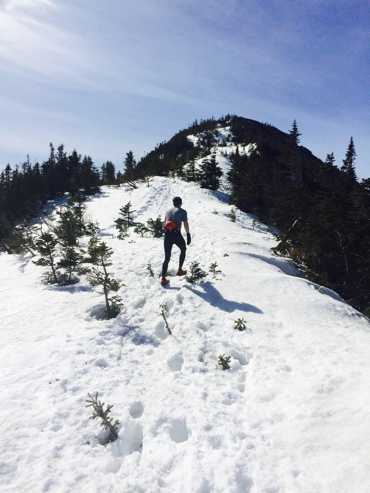 Jan Climbing the final ridge of Gothics