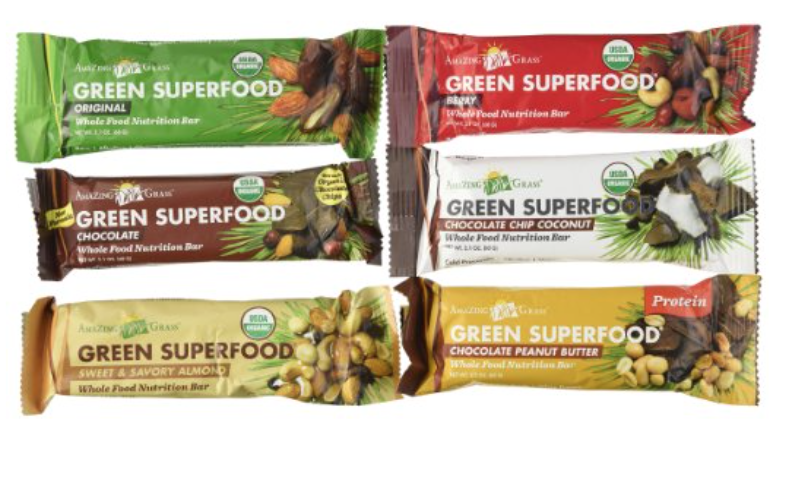 Amazing Grass Green Superfood Whole Food Nutrition Bars  are premium blends of nature's most nourishing and delicious superfoods. We've taken our alkalizing Green SuperFood with antioxidant rich fruits and vegetables and combined them in a bar that will satisfy your hunger and deliver powerful, raw nutrition to your body. It's hard to believe you're eating your greens when all you taste are the amazing flavors of organic deliciousness.