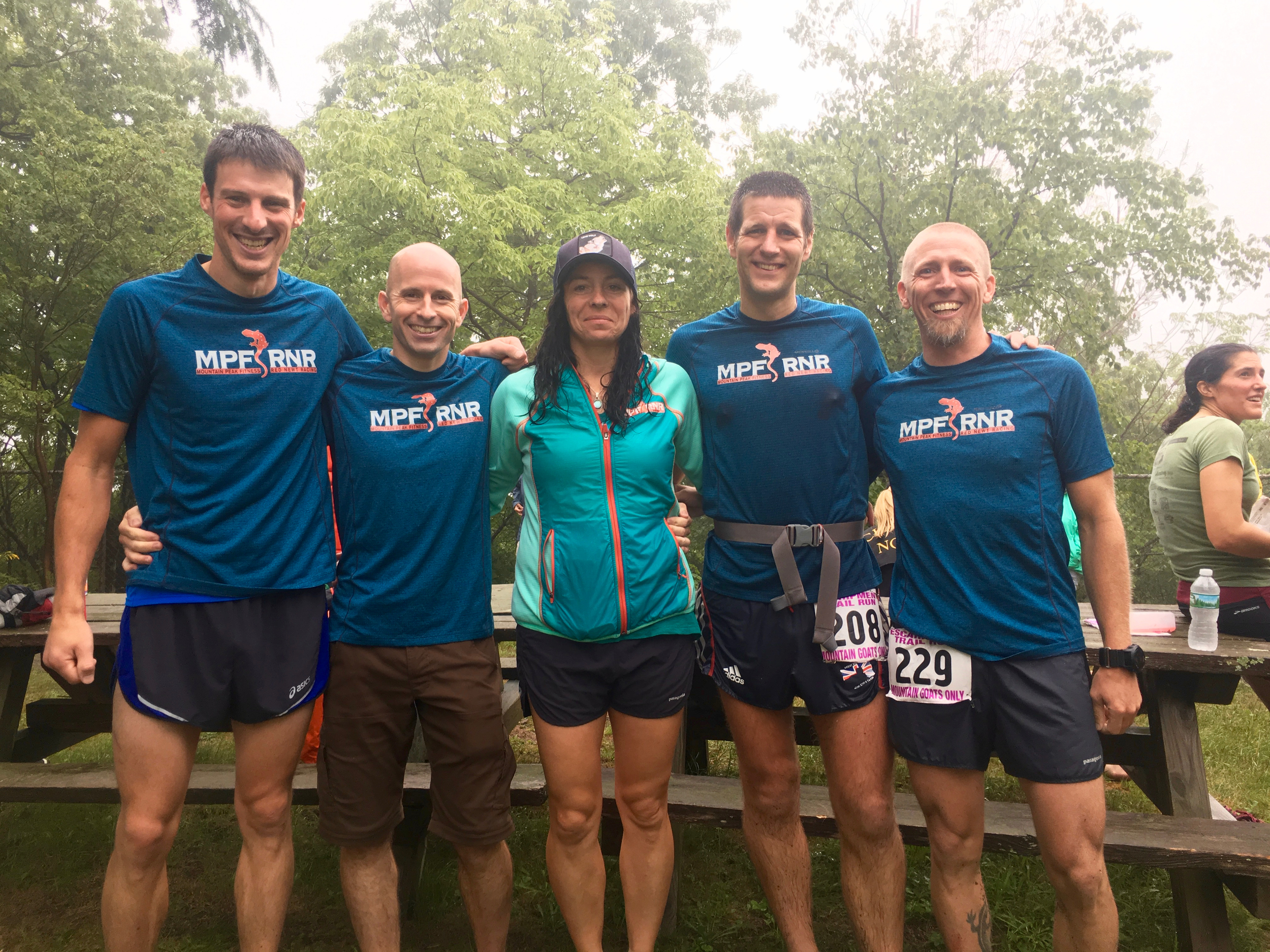 Jan Wellford, Ben Nephew, Zsuzsanna Carlson, Iain Ridgway and Mike Siudy from the MPF RNR Trail Running Team!
