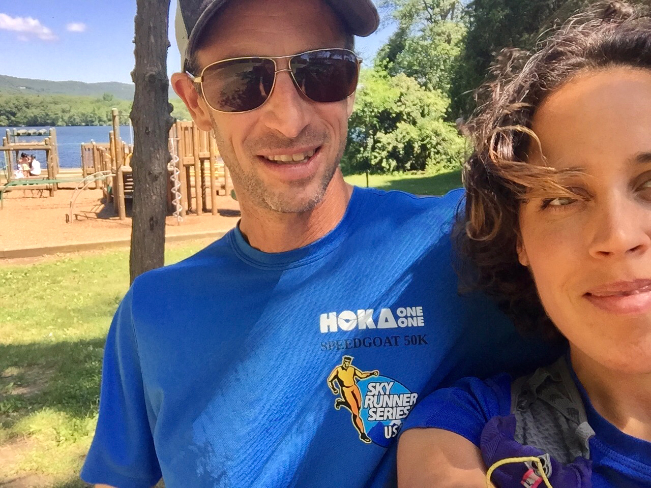 Hanging with Karl before the crowd arrived at Bear Mountain,New York, awaiting Scott Jurek to arrive during his 2015 AT record breaking attempt!