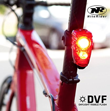 NiteRider Solas 100 Tail Light  - Daylight visible flash (DVF) 100 lumen super bright tail light. Group ride mode-be seen without distracting fellow cyclists Easy on and off seat post strap mount with quick release tab. Convenient USB rechargeable Super bright day time flash mode FL1 Standard IP64, dust and water resistant.  $40 on Amazon