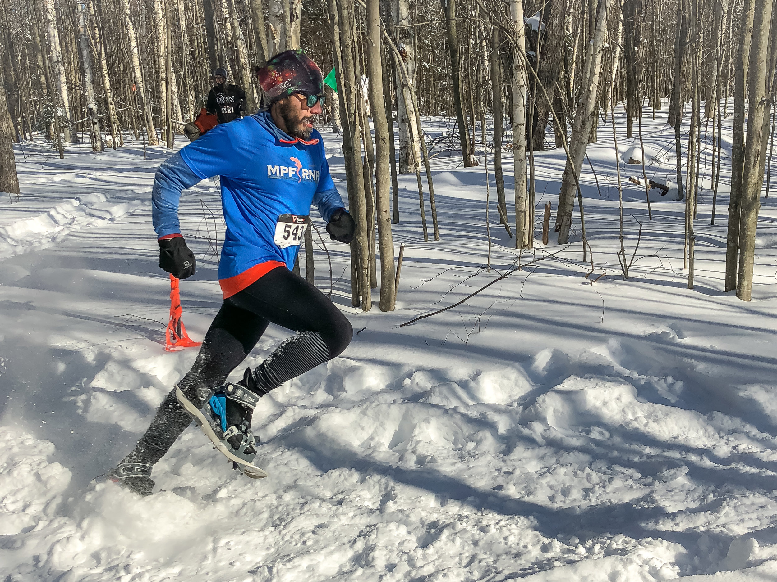 Putting the Alpine 2 to the test at the 2018 North American Snowshoe Championships in Saranac, New York! It was -15º at the start!