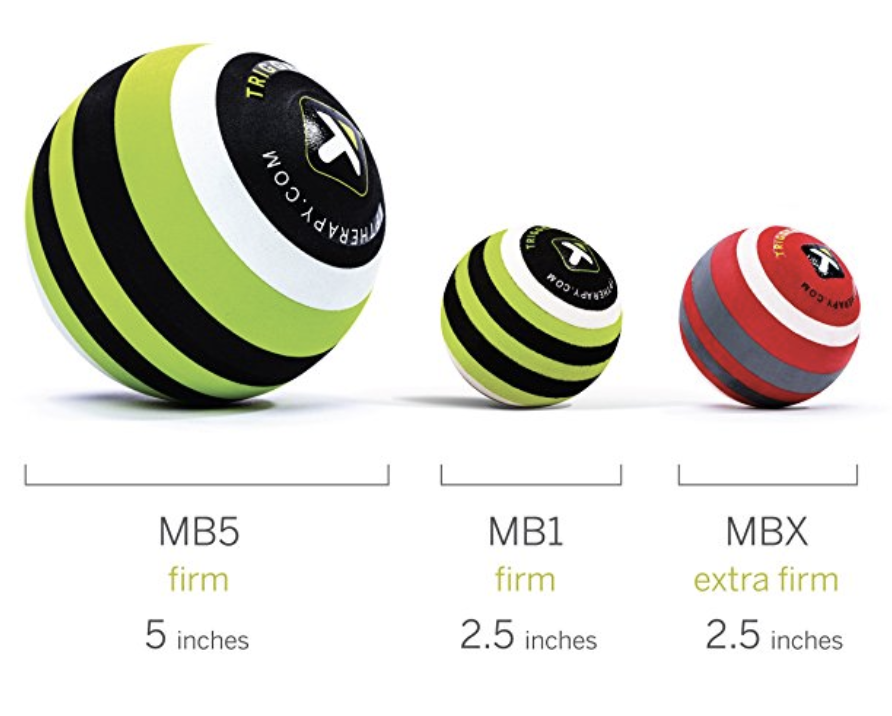 TP 5 & 2.6 inch Massage Balls - These massage balls are dense and hold up well to a lot of pressure and use. Great for targeting specific areas of your hips, hamstrings, rhomboids, calves, feet, chest, etc. You can also use a lacrosse ball in place of the 2.6 inch massage ball.