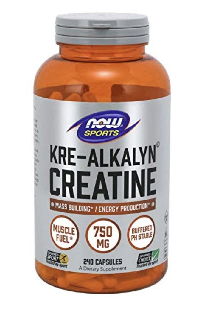 """Creatine Monohydrate  is a naturally occurring compound found in the human body and obtained in the diet primarily from meat and fish. Creatine is a popular supplement among active individuals because of its ability to serve as an energy reservoir, especially during intense physical exertion. During short, intense bursts of activity, the body breaks down adenosine triphosphate (ATP) into adenosine diphosphate (ADP) and phosphate for energy. Creatine helps the body convert ADP back to ATP, providing greater amounts of ATP for energy, which may increase short-term endurance and strength. Creatine can also be stored for later use by cells, creating the """"energy reservoir"""" active individuals desire."""