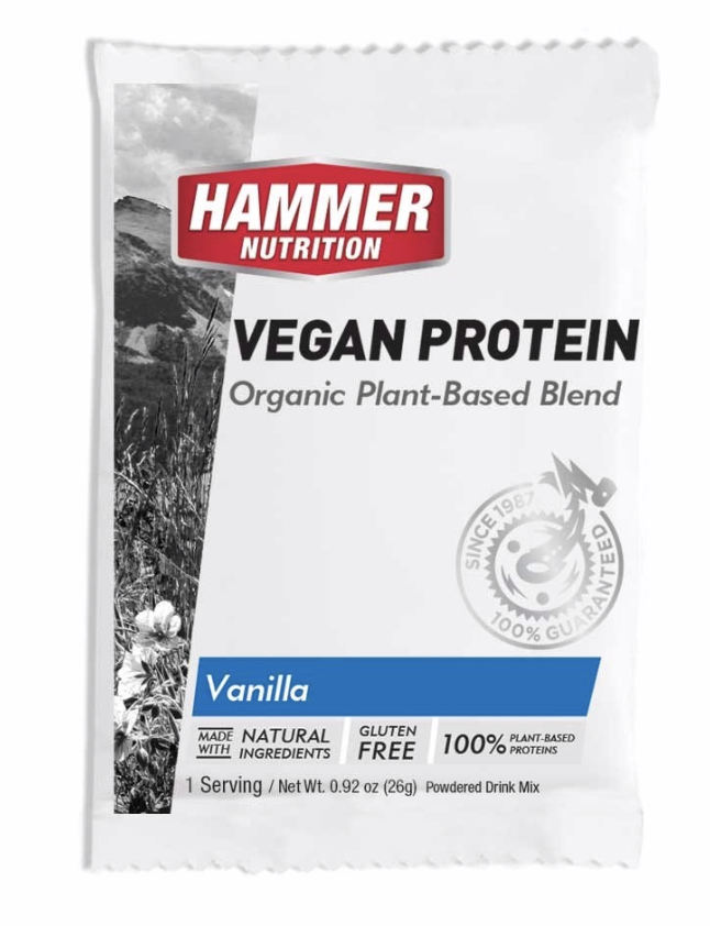 Hammer Nutrition Vegan Protein  - With five sources of nutrient-dense, 100% plant-based protein, including pea protein, organic brown rice protein, organic spirulina, organic chlorella, and alfalfa, Hammer Vegan Protein is the ideal choice for high-quality, dairy-free, soyfree nutrition.