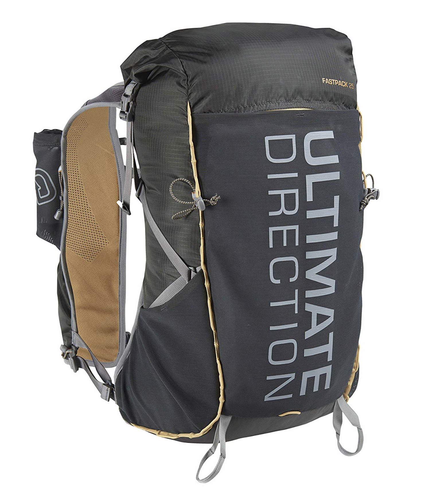 Ultimate Direction Fastpack 25  - Designed for everything from peak bagging to endurance running, the Ultimate Direction Fastpack 20 Backpack gives you what you need to get it done without weighing you down with extra doodads. Holds 15-23 liters.  Check out our Gear Review . For more storage, check out the Fastpack 35 (20-30 liters),  click here .