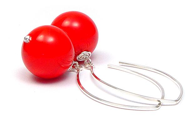 Red Statement Earrings - $55 - JillSymons.com