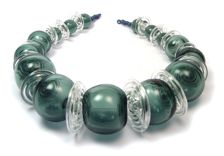 JillSymons.com Denim Blue Hollow Bead Set - $165