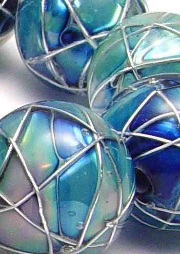 JillSymons.com Lampwork - Jetstream Beads