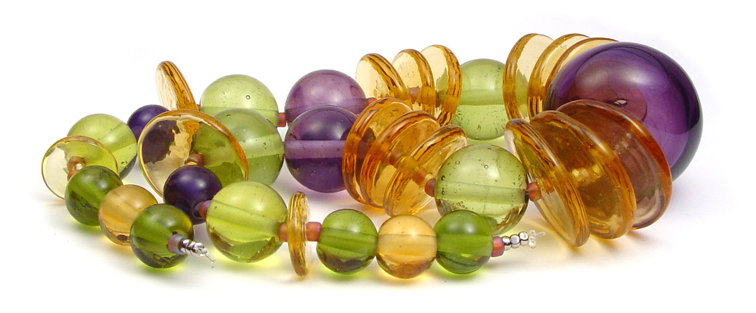 JillSymons.com Lampwork   Harvest Hollow Set - $150