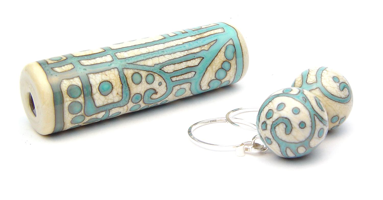 Scrolli Focal & Earrings - $80 JIllSymons.com Lampwork