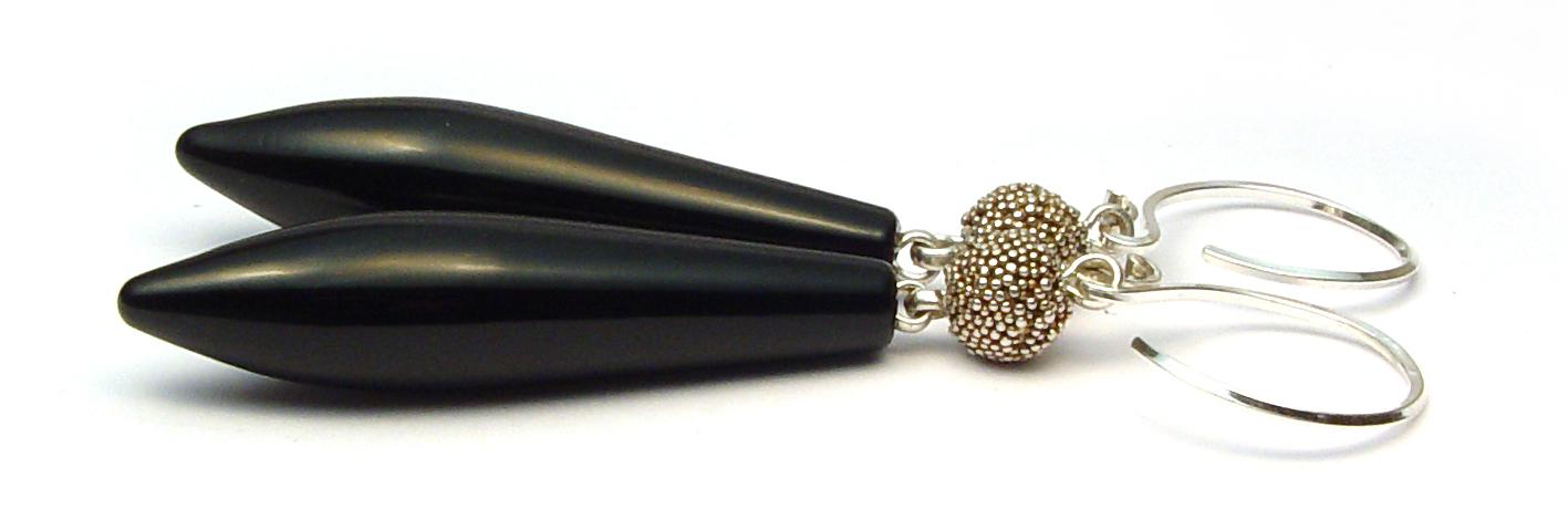 LIttle Black Dress Earrings - $55 JIllSymons.com Lampwork