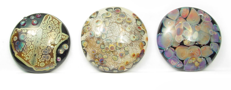 Cabochons - $40ea JillSymons.com Lampwork