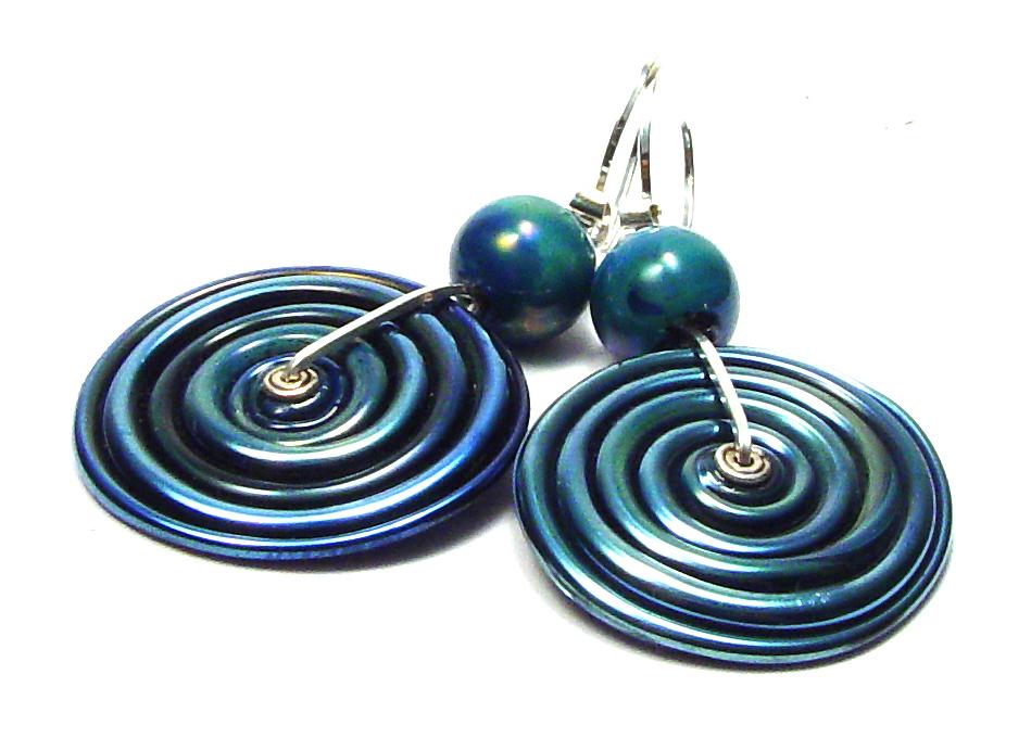 Boro Swirled Blue Moon - $58 JillSymons.com