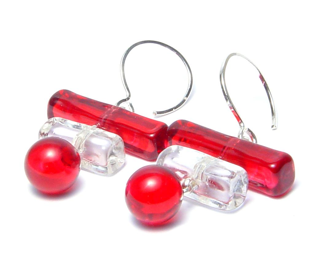 Cranberry Stack - $55 JillSymons.com Lampwork