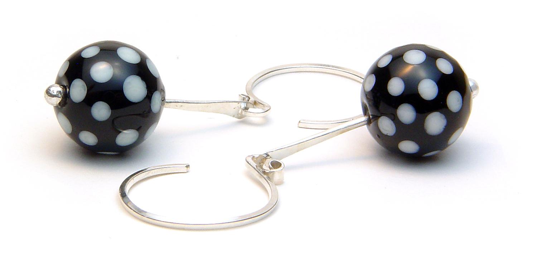 Dotty About U Earrings - $50 JillSymons.com Lampwork