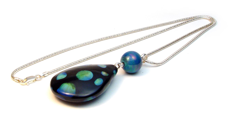 Teardrop Over n Under Necklace - $68 JillSymons.com Lampwork