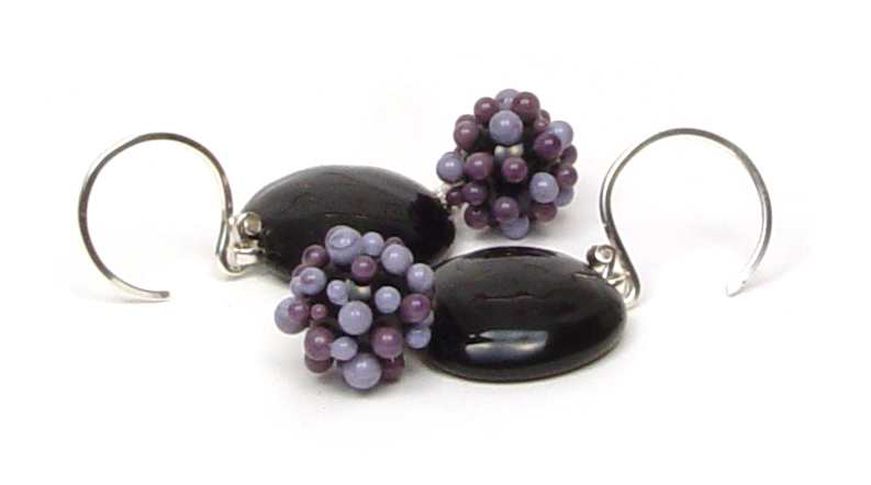PurpleBerry Earrings - $50 JillSymons.com Lampwork