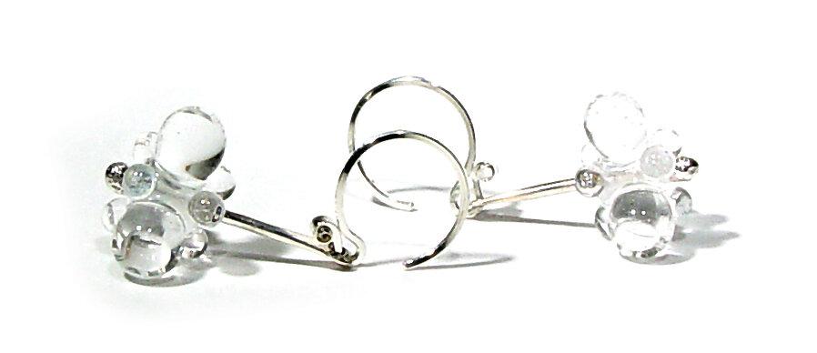 E247 Swinging Clear Drops - $50 JillSymons.com Lampwork