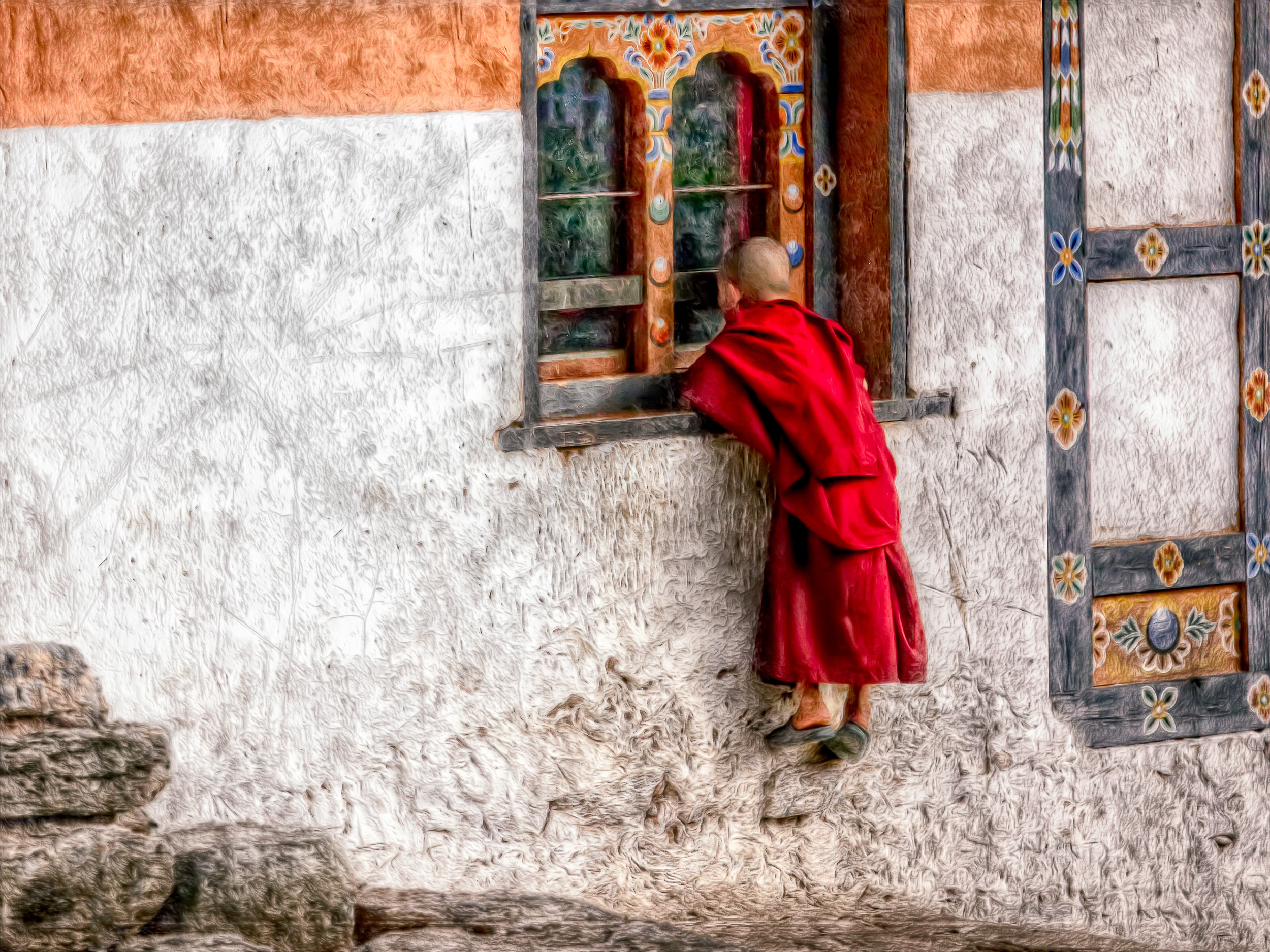 Young Monk by window-100.jpg