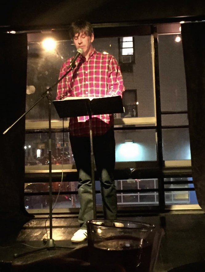 On September 29th,Jason was part of the  Flint Fiction reading series, along with  Helen Phillips and  Kerry Cullen who were both superb. It's a great series which will soon be moving to Brooklyn.
