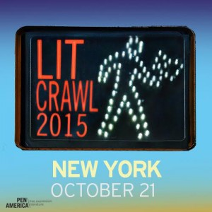 On October 21st,Jason participated in the  H.I.P. -curated exquisite corpse event at this year's  Lit Crawl NYC . People were nice.  Drinks were served. Terrible sentences were written. Many people left with totes. Not bad for a Wednesday night.