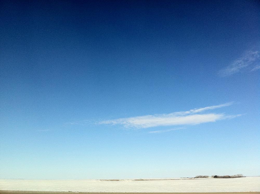 On the road to Lumsden, Saskatchewan