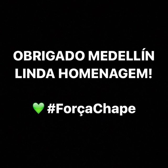 Thank you Medellín, Colombia - Atletico Nacional. Indescribable act of love, kindness and hope for unity in humanity. The energy, the solidarity, the warmth. A new family is born. #forçachape #medellin #atleticonacional #hope #chapecoense