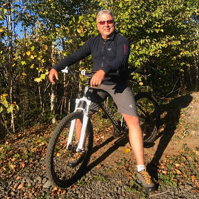 Enjoying the trails around Thunder Bay on a perfect September day.