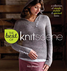 Enjoy the 20 most popular knitting patterns and expert advice from the first five years of Knitscene magazine in The Best of Knitscene     Available on Amazon (click photo)   .
