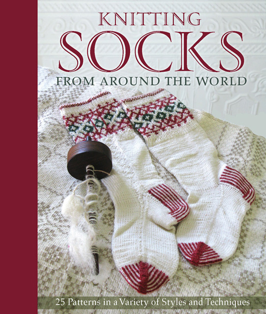 This book collects 25 fantastic patterns for socks inspired by knitting traditions from around the world. Patterns from top designers including Star Athena, Beth Brown-Reinsel, Candace Eisner Strick, Chrissy Gardiner, Janel Laidman and Anna Zilboorg are featured, along with an introduction from Nancy Bush, author of Folk Socks.   Available on Amazon (click the photo)