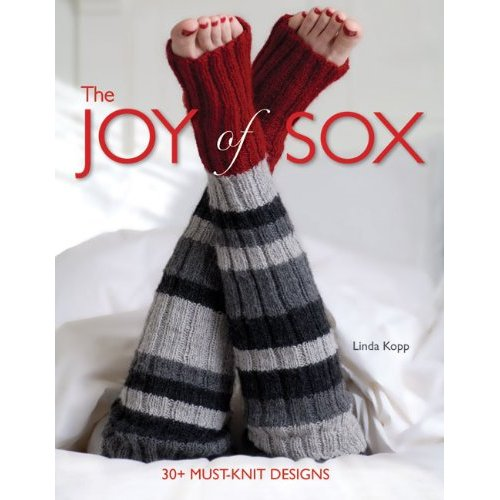 Aimed at the knitter who is super-passionate about socks,  The Joy of Sox  delivers on its name. With their tantalizing cables, intricate lacework, and intriguing color work, the patterns represent the very best in sock design. There are revamped classics, bold new styles, and even a few themed socks—like the diamond lace thigh-highs and toeless pedicure socks.    Available on Amazon (click the photo)