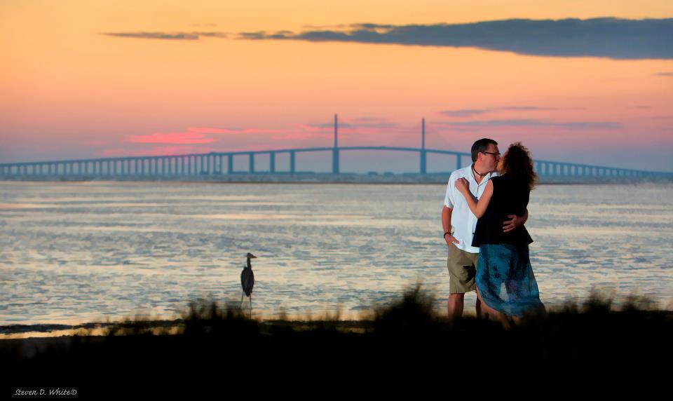 Julie and Ed's engagement  session in Florida, photographed by our friend Steve White -
