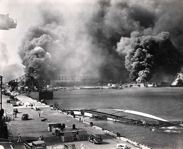 Pearl Harbour bombing December 7, 1941--CC BY-NC-SA by akwccr