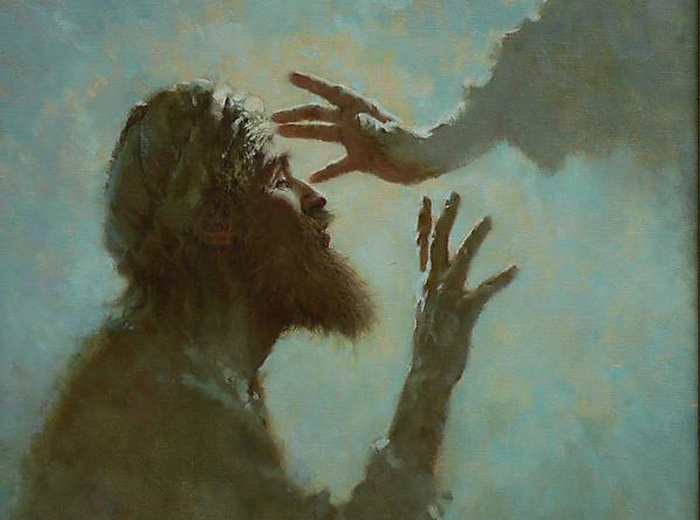 Healing of a Blind Man  by  Brian Jekel