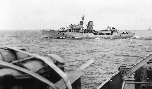 January 8, 1944- The HMCS Camrose which helpedsink a German submarine in the North Atlantic during Second World War.  VAC | ACC  /Flickr