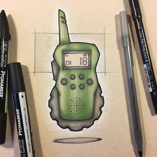 "093 // 100 ""Were you calling from a walkie-talkie?"" This weeks #weeklydesignchallenge • #industrialdesign #sketch #idsketching #sketchaday #productdesign #sketchbook #ideation #productdesignsketch #designer #onesketchaday #design #id #sketchdaily #idsketch #drawing"