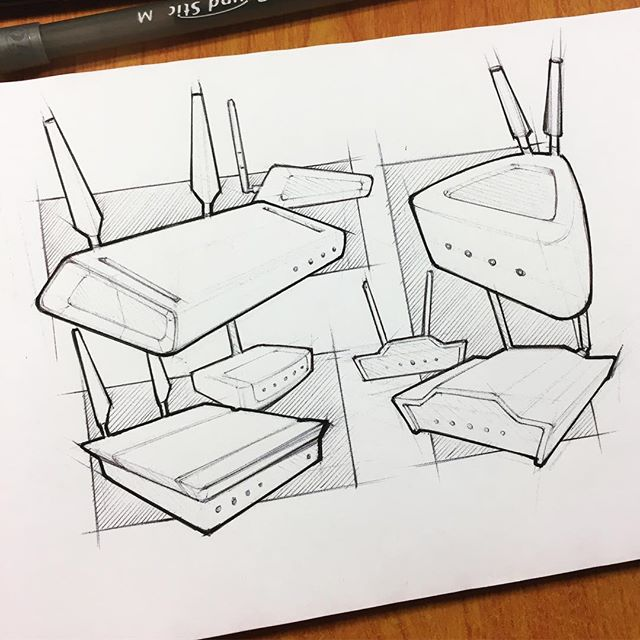 094 // 100 Wireless routers with robot bunny ears #industrialdesign #sketch #idsketching #sketchaday #productdesign #sketchbook #ideation #productdesignsketch #designer #onesketchaday #design #id #sketchdaily #idsketch #drawing