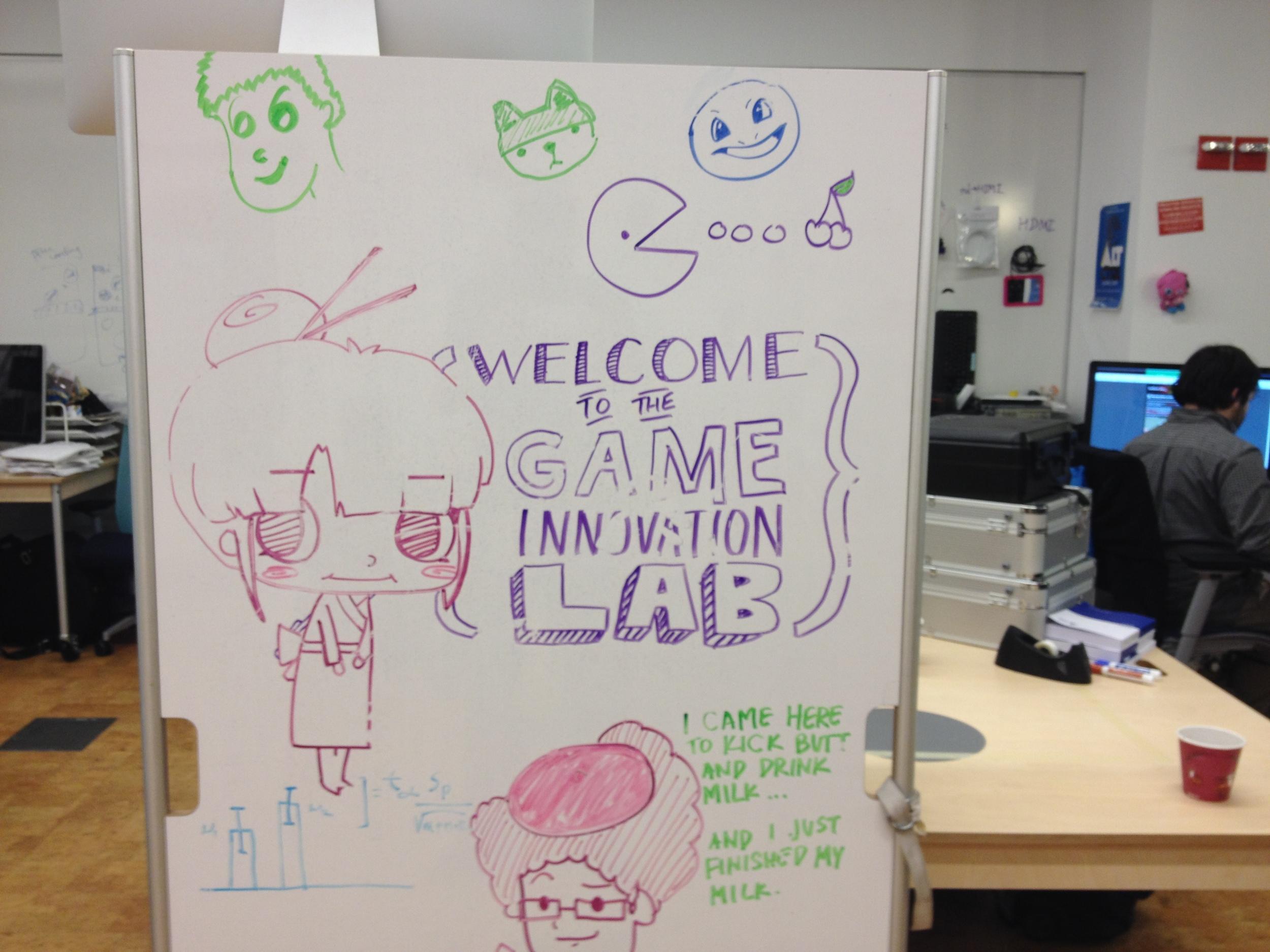 Wall art at the Game Innovation Lab at NYU.