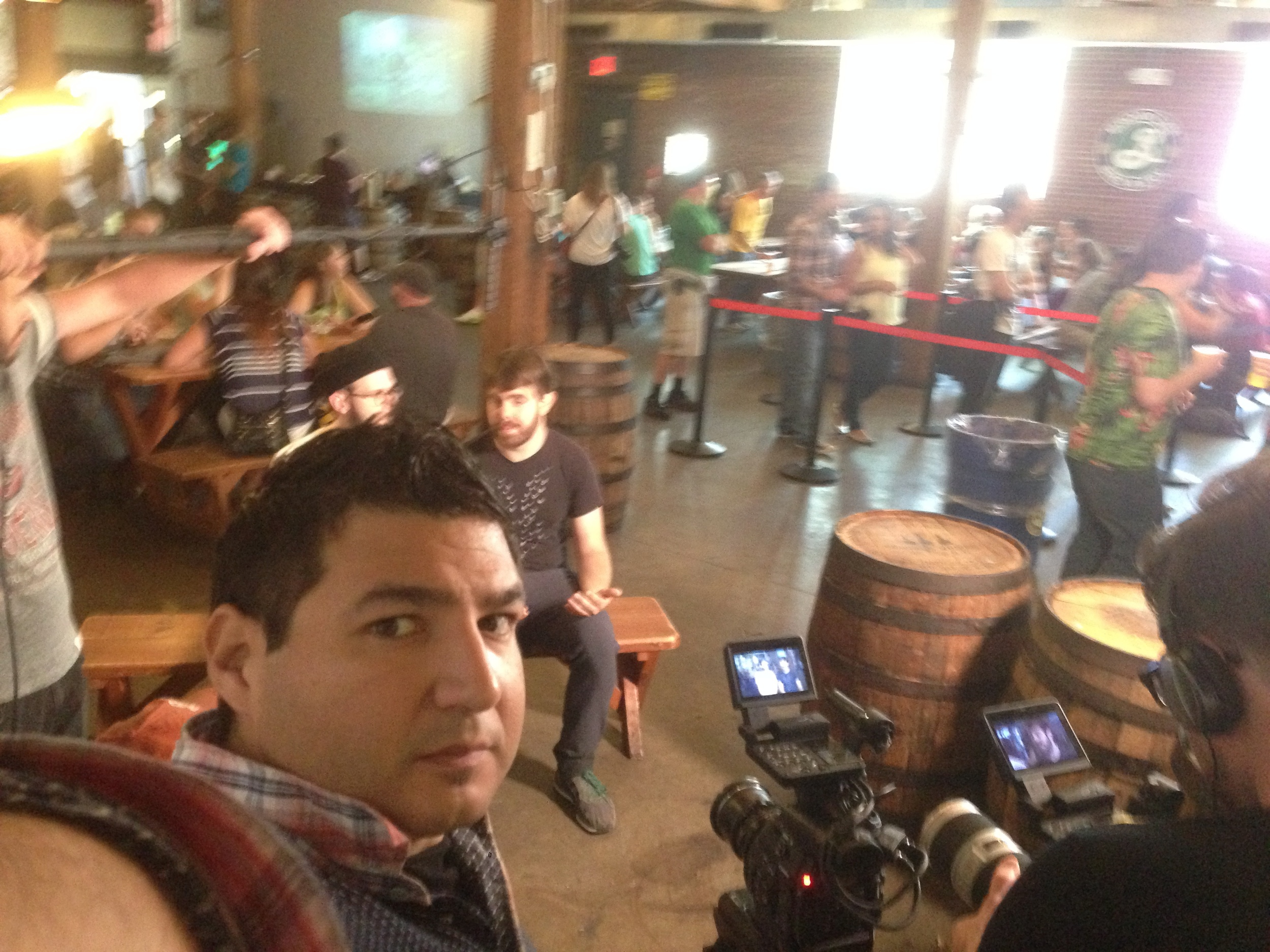 Interview Setup at Brooklyn Brewery.