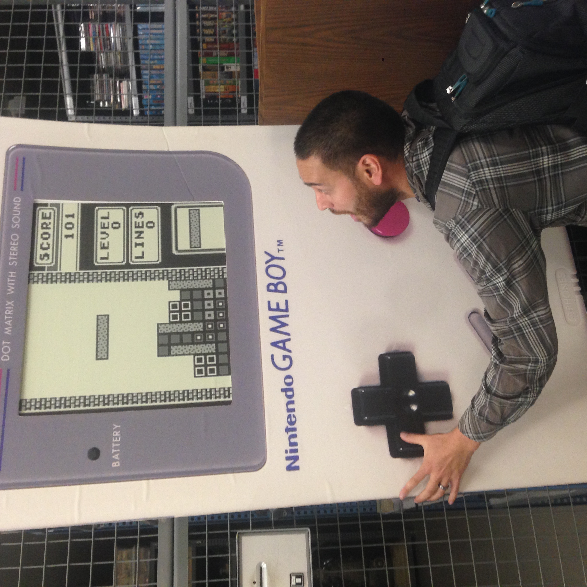 Jason finds a Game Boy. Strong Museum of Play, Rochester, NY.