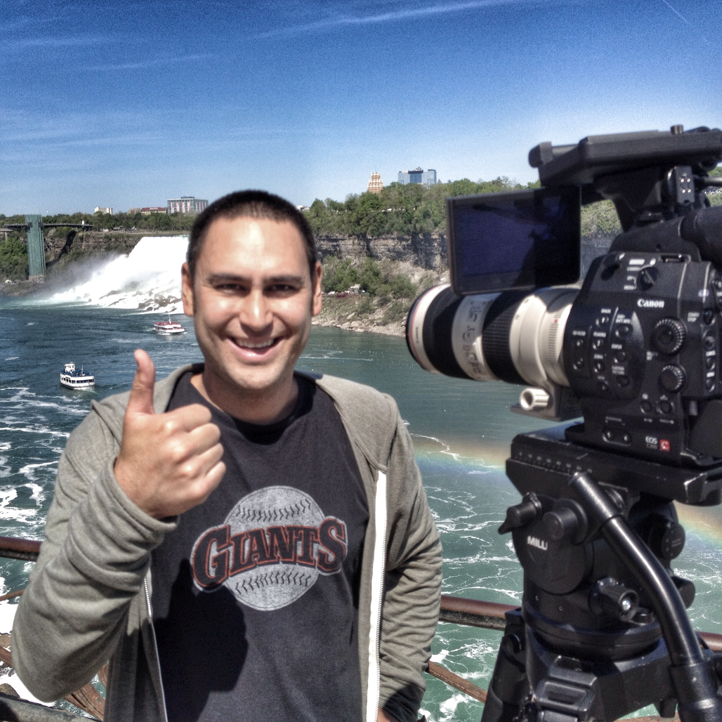 Jason at Niagra Falls just before re-entering the United States.