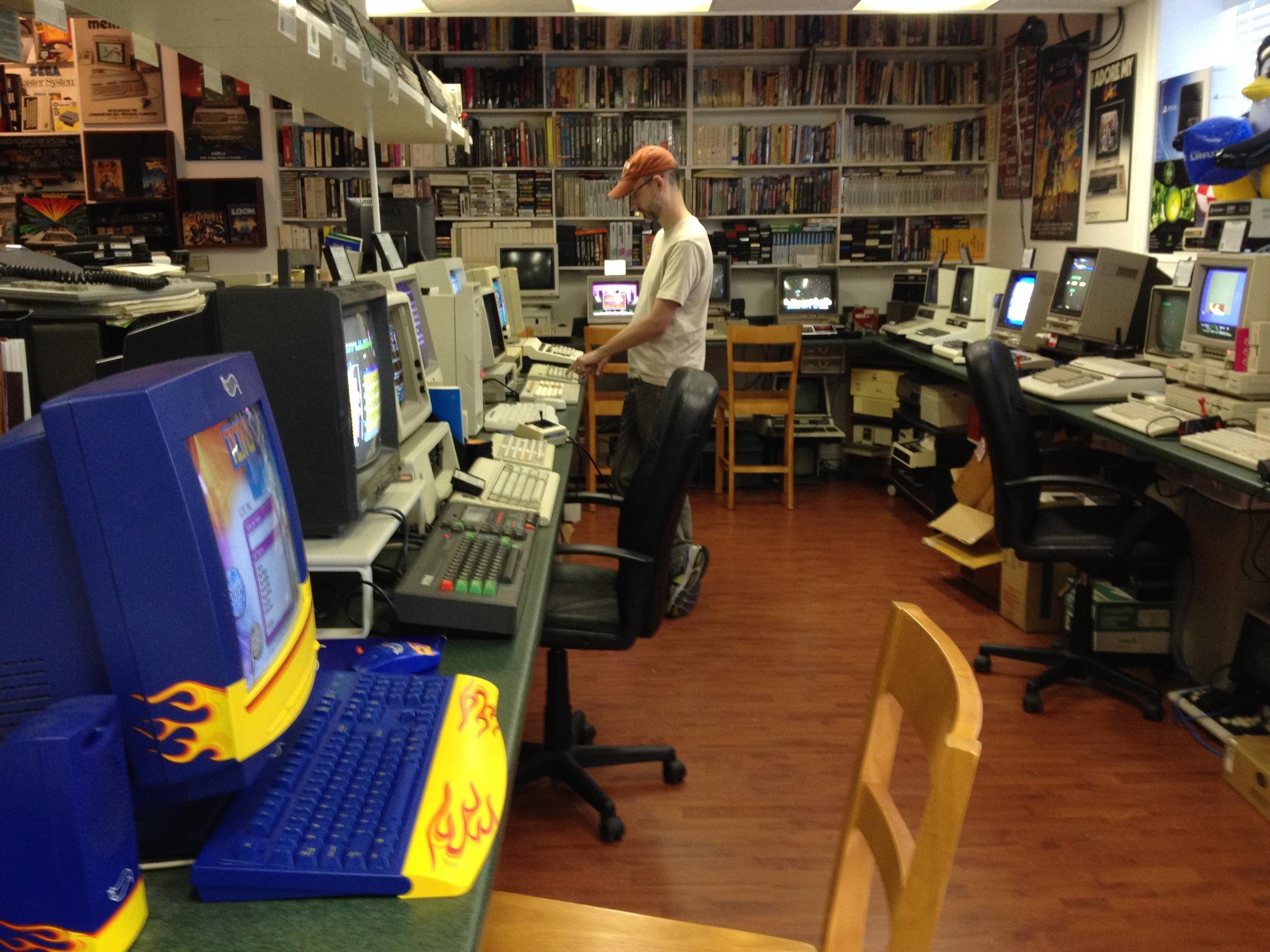 Matt enjoys a bit of nostalgia at The Personal Computer Museum in Brantford, Canada.