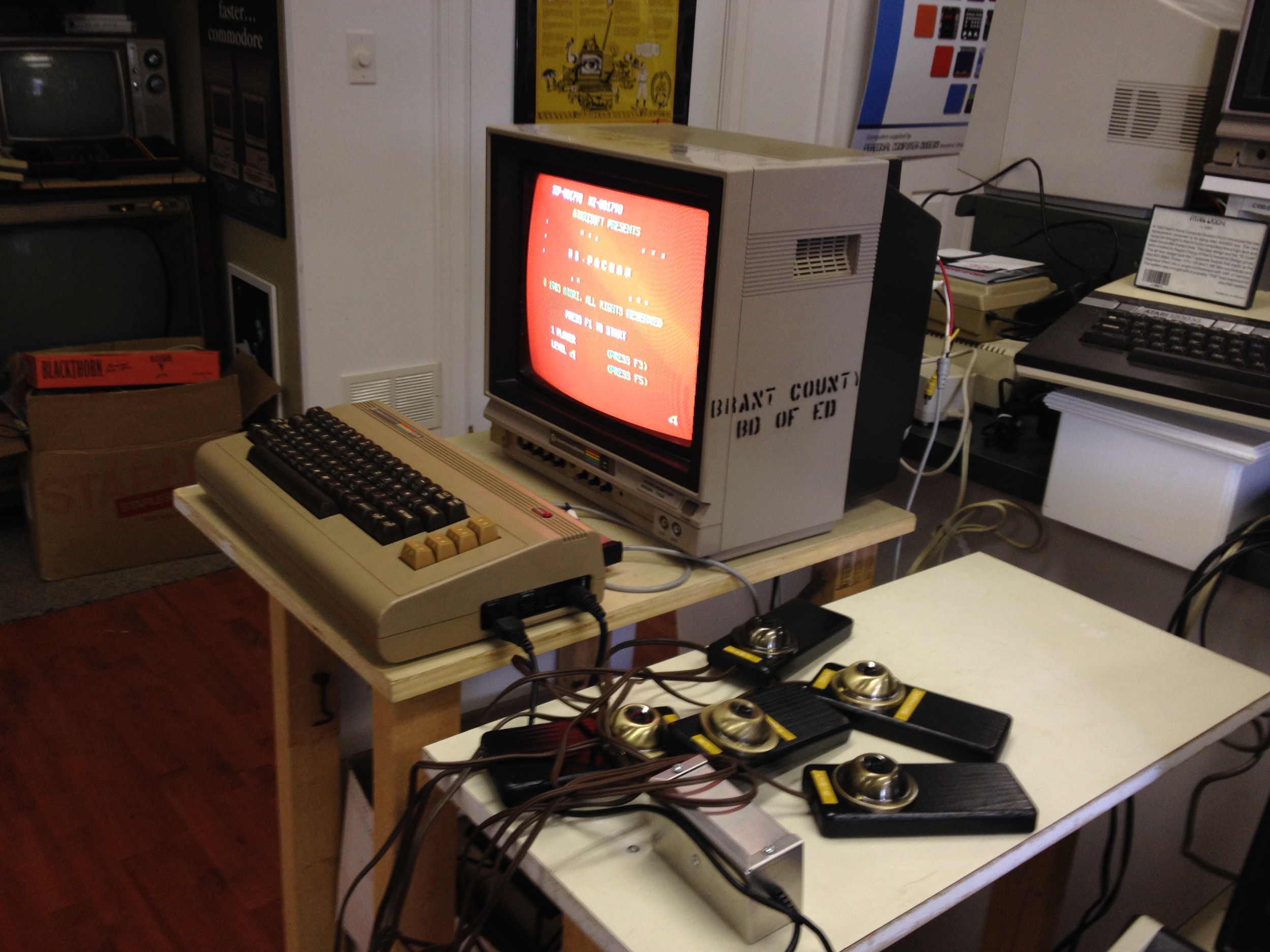 Syd Bolton's original 4-player controller design for classic Pac-Man on the Commodore 64.