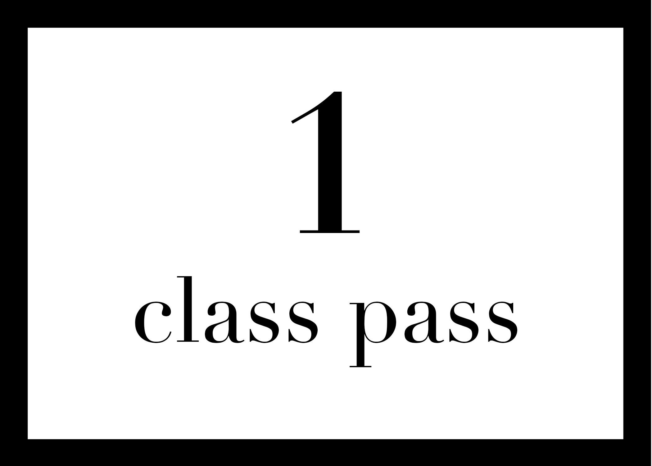 $16 single class -