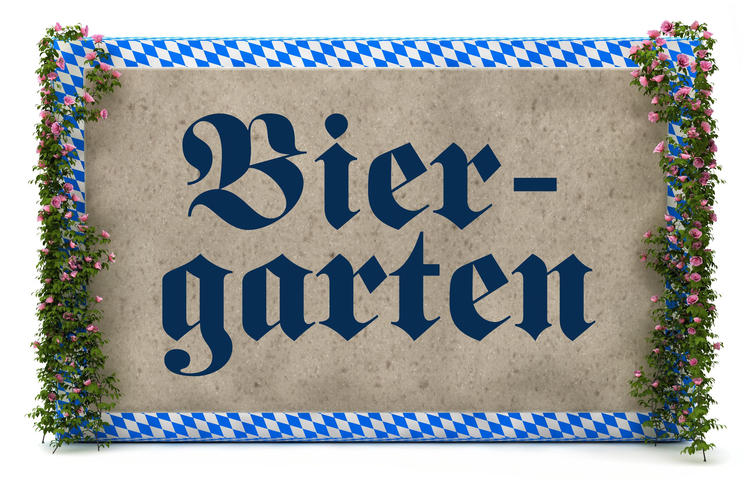 enjoy our biergarten! - w/ imported German biergarten tables